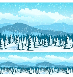 picturesque forest in winter vector image vector image