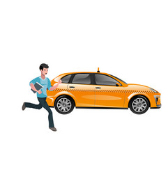 successful businessman hailing a taxi vector image vector image