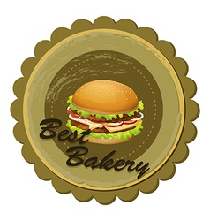 A best bakery label with a burger vector