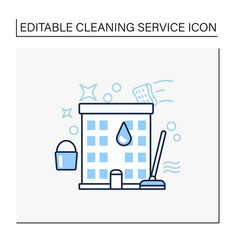 Apartment cleaning line icon vector