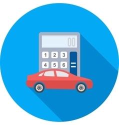 Auto loan calculator vector