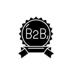 b2b black icon sign on isolated background vector image