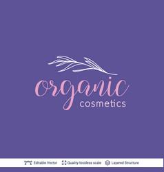 beauty product organic cosmetics logo design vector image