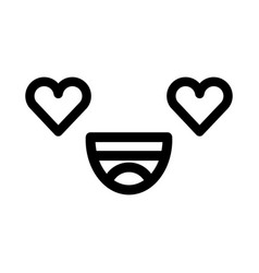 Black and white kawaii emoticon face vector