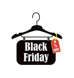 black friday inscription design template sale vector image