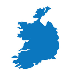 blank blue similar ireland map isolated on white b vector image