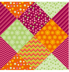 Bright summer style fabric pattern samples vector