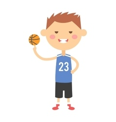 Cartoon basketball young boy vector