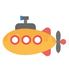 Cartoon submarine vector