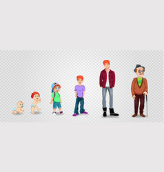 Character man in different ages vector