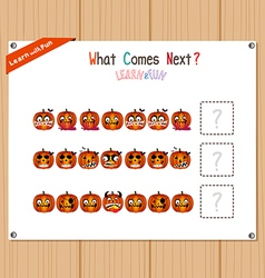 Completing the Pattern Educational Game for vector image