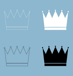 crown the black and white color icon vector image