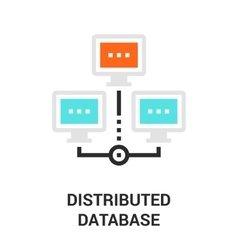 Distributed database icon vector