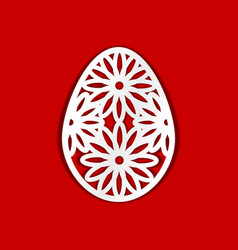 easter egg template for laser cutting vector image