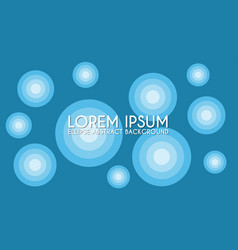 Ellipse abstract background design template cyan vector
