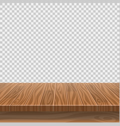 Empty wooden table in a sun drenched summer garden vector