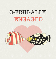 engagement announcement banner fun vector image