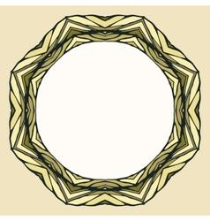 Ethnic round mandala ornamental background vector image