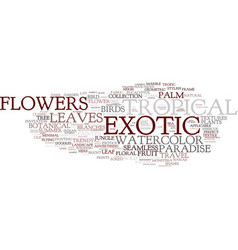 Exotic word cloud concept vector