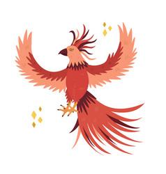 Fantastic bird phoenix in a flat style vector
