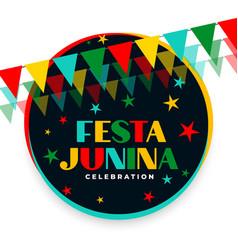 Festa junina decorative festival celebration vector