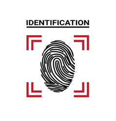 Fingerprint scanning icon identification concept vector