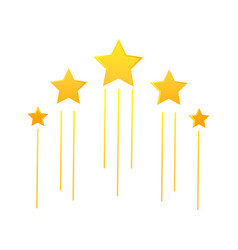 Flying stars icon vector