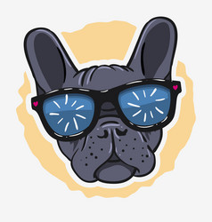 french bulldog graphics for tee print t shirt vector image