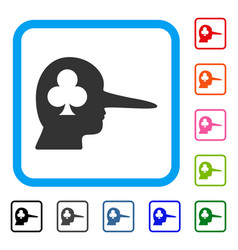 Gambling jerk framed icon vector