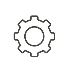 gear icon line symbol vector image