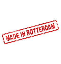 Grunge made in rotterdam rounded rectangle stamp vector