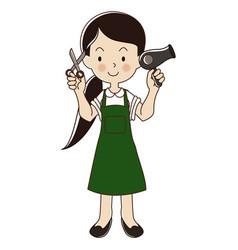 Hairdresser woman vector