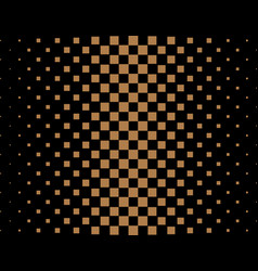 halftone black and gold square pattern background vector image
