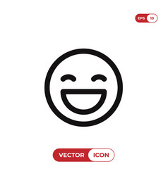 Happy smile icon vector