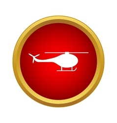 Helicopter side view icon simple style vector