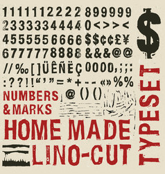 Home made woodcut typeset vector
