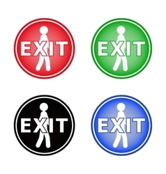Icon labeled Exit vector image