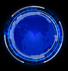 idealistic earth with technology background vector image