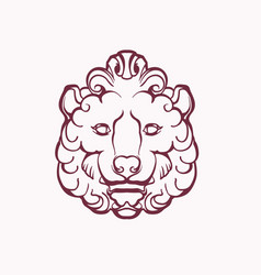 image a stylized lion head vector image