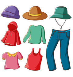 Isolated set clothes vector