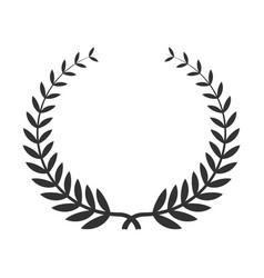 laurel wreath icon award for winning celebration vector image
