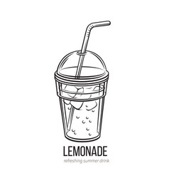 lemonade icon outline vector image