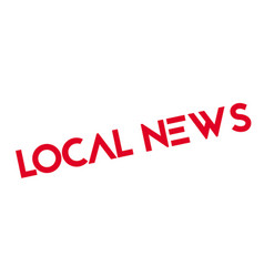 Local news rubber stamp vector