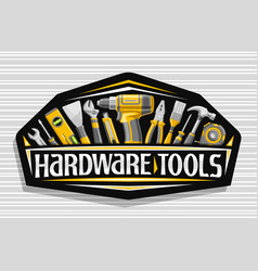 Logo for hardware tools vector