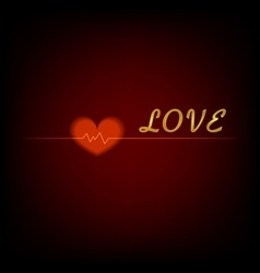 love background with hearts for Valentines day vector image