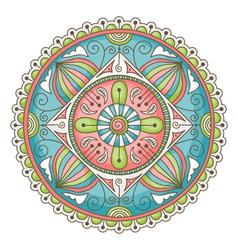 Mandala doodle color vector