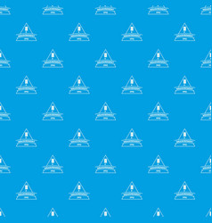 measurement pattern seamless blue vector image