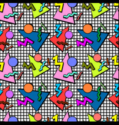 memphis pattern background vector image