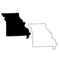 Missouri map vector