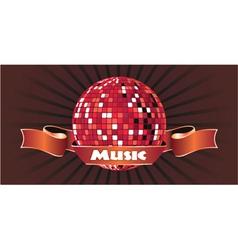 Music emblem vector